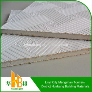 Vinyl Coated Sheetrock Ceiling Tiles