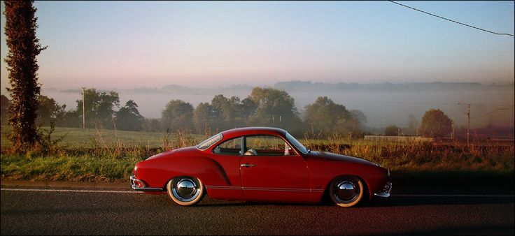 GhiaGhia Red, Auto Engineering, Vw Karmann, 68 Karmann Ghia, Slammed Karmann, Wheels Auto, European Cars, Cars Cars