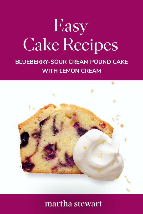 Blueberry Sour Cream Pound Cake With Lemon Cream Recipe Sour Cream Pound Cake Easy Cake Recipes Sour Cream