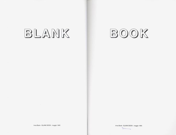 """""""Blank Book"""", 1995 - Laser print on 2 sheet of paper - """"Bricolage no. 2 Terza…"""