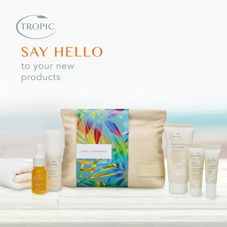 The Tropic Travel Essentials kit has landed! Check out what the collection includes under the 'What's New' tab. #skincare #tropicskincare