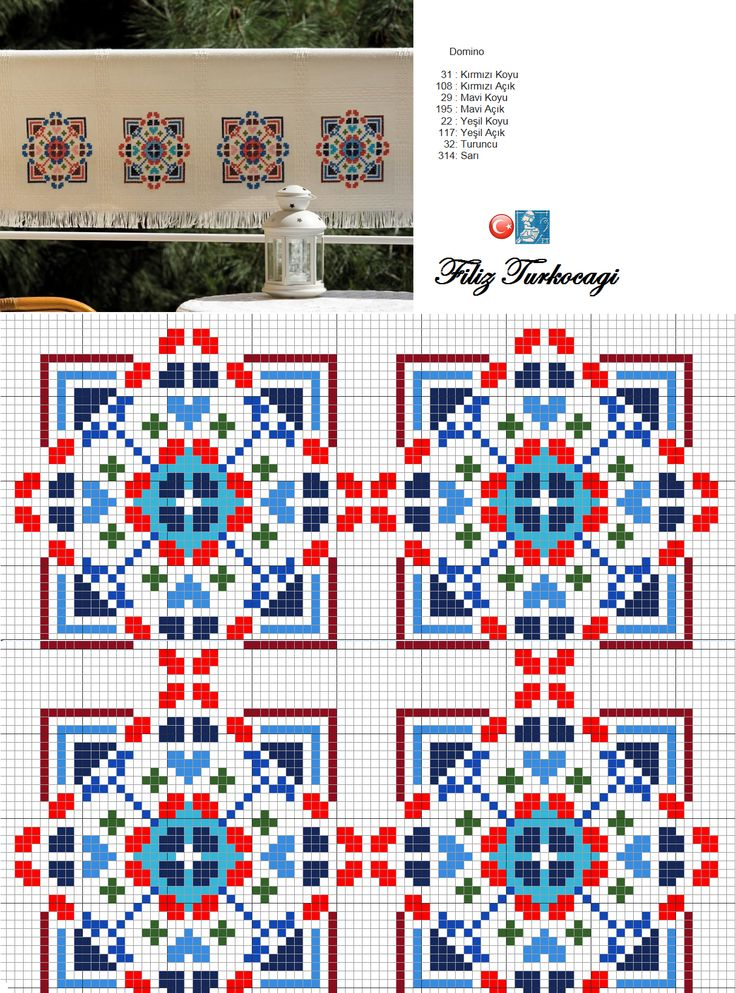 Geometric pattern designed by Filiz Türkocağı