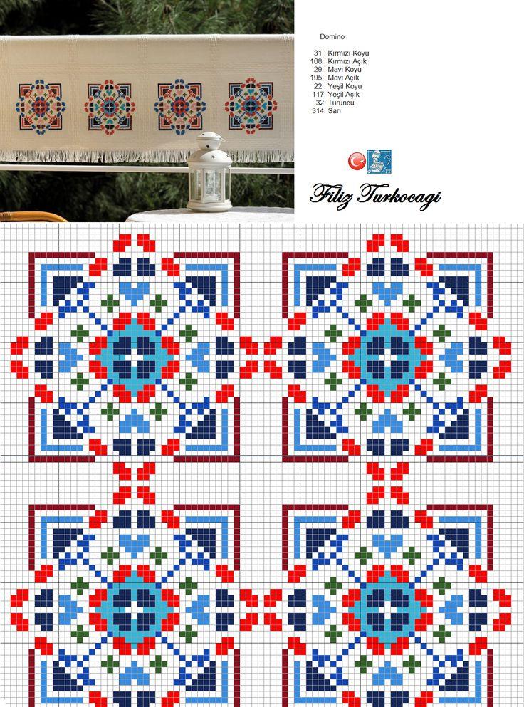 Ben ikili kanepeye örtü olarak kullanıyorum... İstediğiniz renklerle, kare ya da dikdörtgen olarak, ya da benim gibi serpme olarak işleyebilirsiniz, ama bahçeye :) Designed and stitched by Filiz Türkocağı...