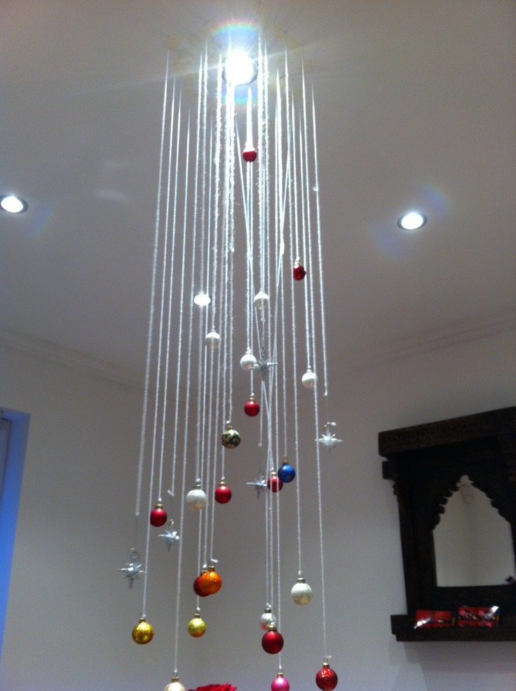 Christmas hanging ceiling decorations 28 images hometalk ceiling hung christmas wreath 2016 - Hanging ceiling lights ideas ...
