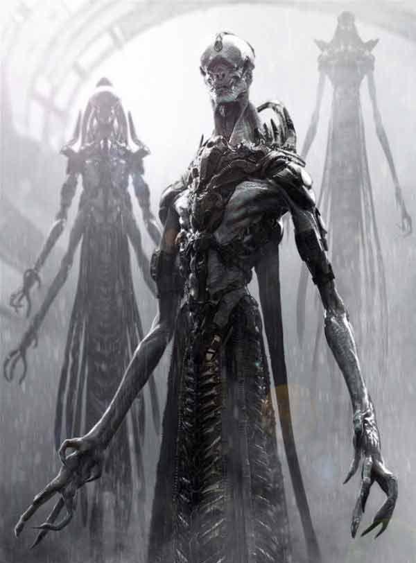 Sci Fi Alien Concept Art By Jerad Marantz