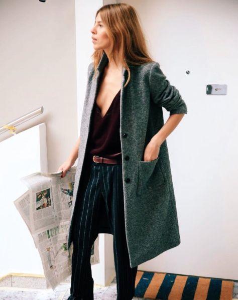 Oversized Layers | Grey Coat | Belted Trouser | Scandi Street Style | HarperandHarley