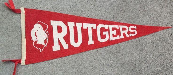 Vintage Felt Rutgers University Banner Pennant Vintage
