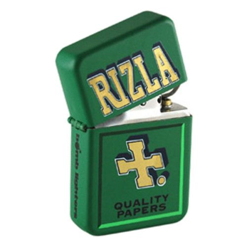 Bomblighter - Rizla.  Limited edition; Solid windproof metal lighter; Full lifetime guarantee; Comes boxed and in a tin case; Excellent collectors item; Makes an ideal gift! 6cm Tall x 4cm Wide.  For more information please click the link or visit dotcombong.com.
