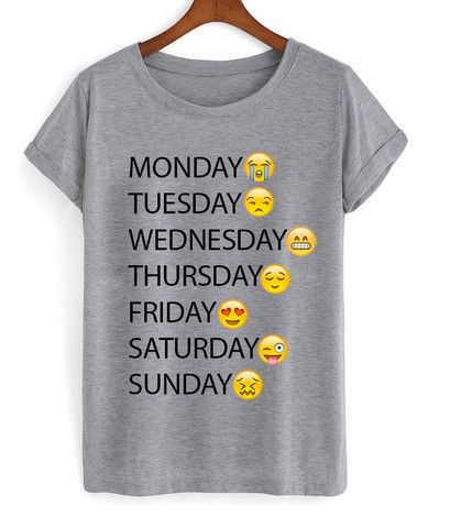 one week emoji shirt