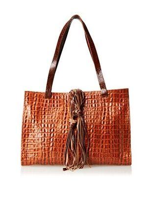 60% OFF Carla Mancini Women's Carmel Tote Bag, Orange Croco, One Size