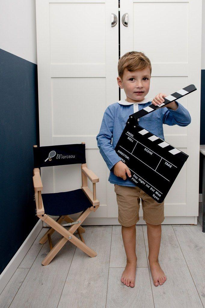 Chaise Metteur En Scene Enfant 1 4 Ans Toile Petit Tennisman