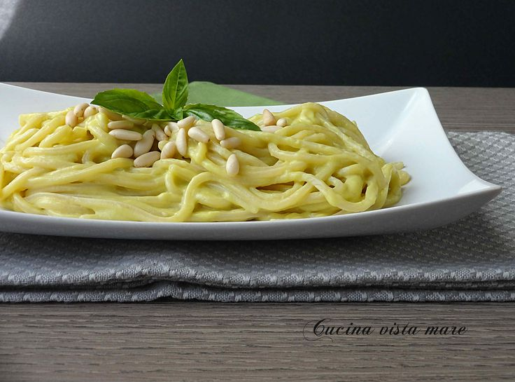 Spaghetti+al+pesto+di+avocado