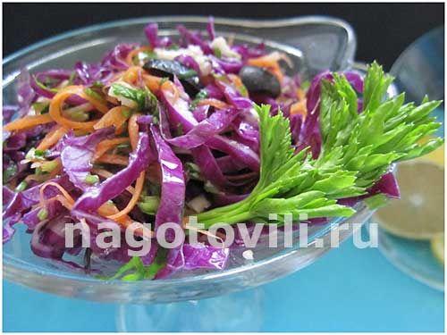 салат из фиолетовой капусты рецепты с фото