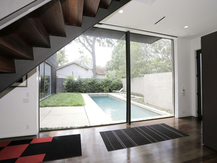 A home with formidable architecture and a light interior