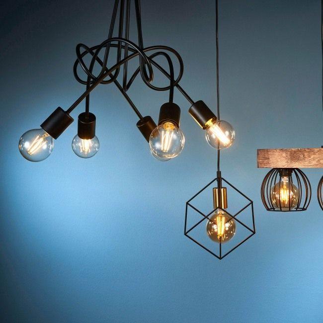 Lampa Wiszaca Tango 5 X 60 W E27 Czarna Lampy Wiszace Ceiling Lights Decor Light