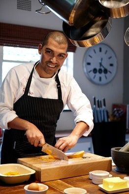 Cape Town #Chef Reuben Riffel ! #Gorgeous man in the #kitchen! LIKE!!!