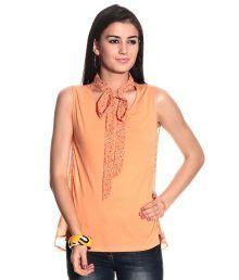 Orange Solids Cotton Top