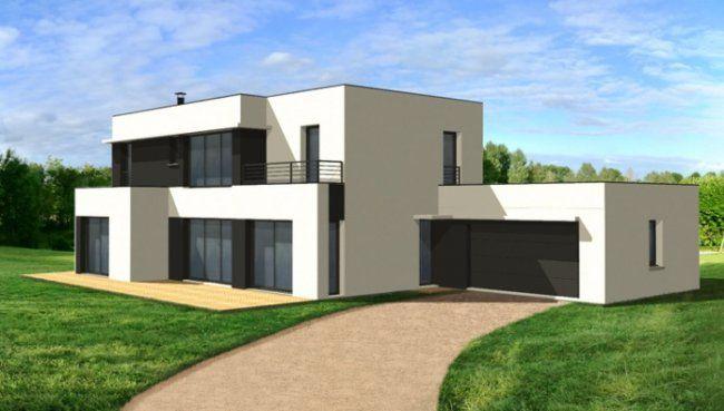 Maison contemporaine dominique charles 650 369 for Architecture contemporaine maison