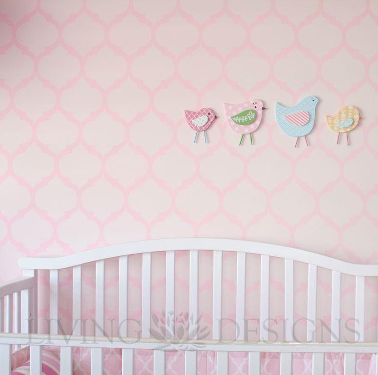 Plantillas decorativas m s accesible que el papel tapiz y - Plantillas decorativas pared ...