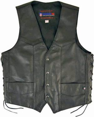 "The most popular Leather Vest of all time, the Men's #MotorcycleClub Vest in 100% American Cowhide. Truly an original vest conceived to satisfy riders and bikers who want the best motorcycle gear and demand the best. Shaped for Riders to show their ""colors"", or to just wear solid, whether alone or over the jacket to complete their cycle gear. This #leathermotorcyclevest rides on more shoulders than any other in the world. And it's made in America."