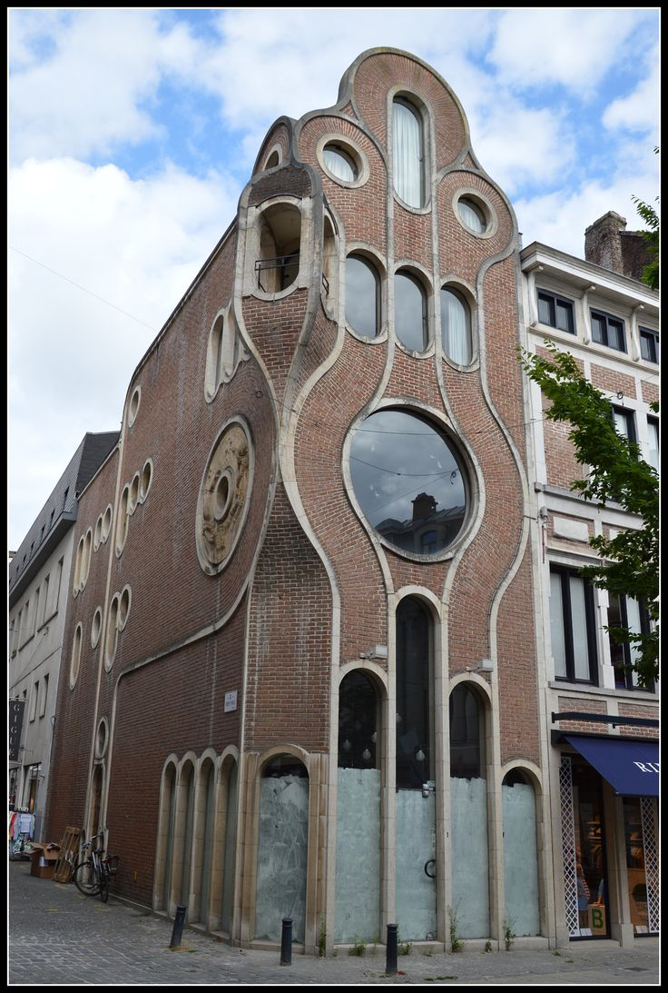 This house in Ghent is described by some as Nouveau, by others as Deco - perhaps it's a modern bridge between the two