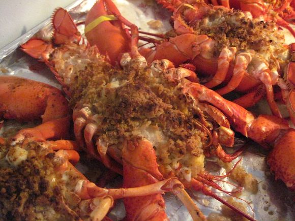 A recipe for Baked Stuffed Lobster