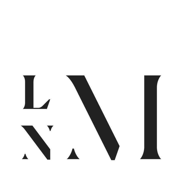 Custom made logo for LNM, the Norwegian organization for professional artists who work with painting.