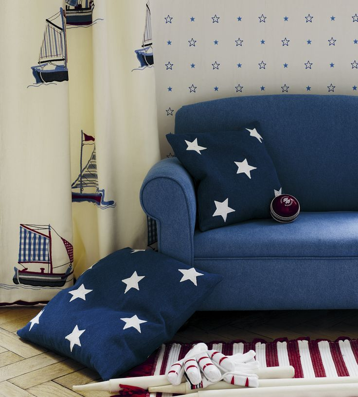 How To Style | Boys Rooms | Starstruck Fabric by Jane Churchill | Jane Clayton