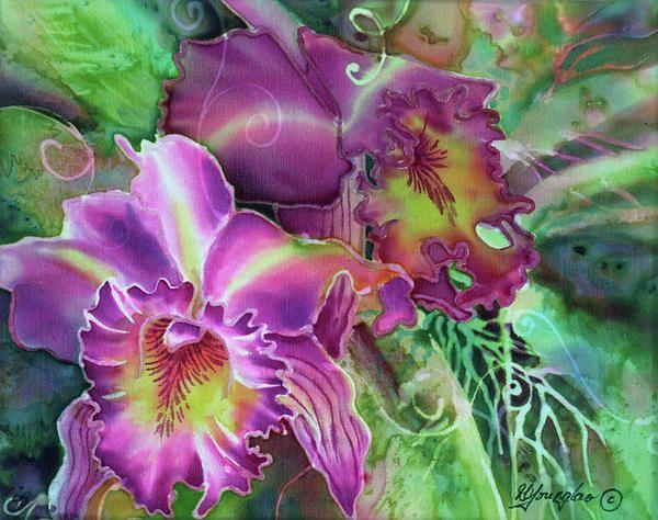 11 best silk paintings flowers deborah younglao images on orchid series 10 flower painting on silk deborah younglao mightylinksfo