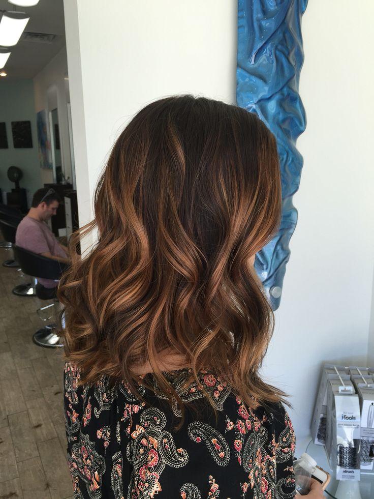 Caramel Balayage Straight Hair