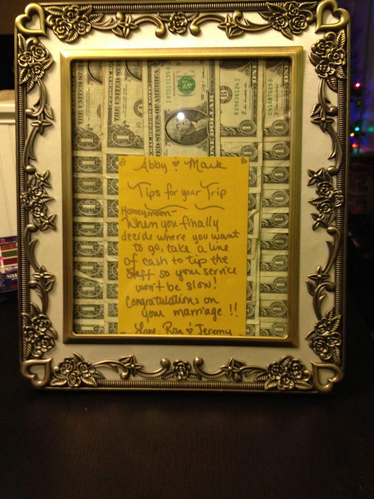 Ideas, Wedding Things, Wedding Gift Ideas, A Frame, Money Gift, Gift ...