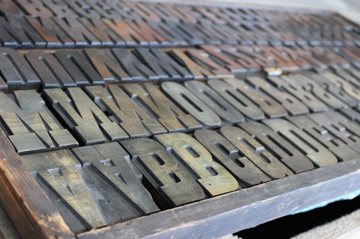Case of traditional hand carved wood type. Beautiful.