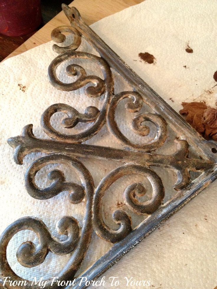 From My Front Porch To Yours: How To Make New Iron Brackets Look Old