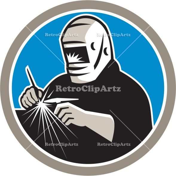 Tig Welder Welding Circle Retro Vector Stock Illustration. Illustration of a tungsten inert gas tig welder with welding torch welding set inside circle on isolated background done in retro style. #illustration #TigWelder