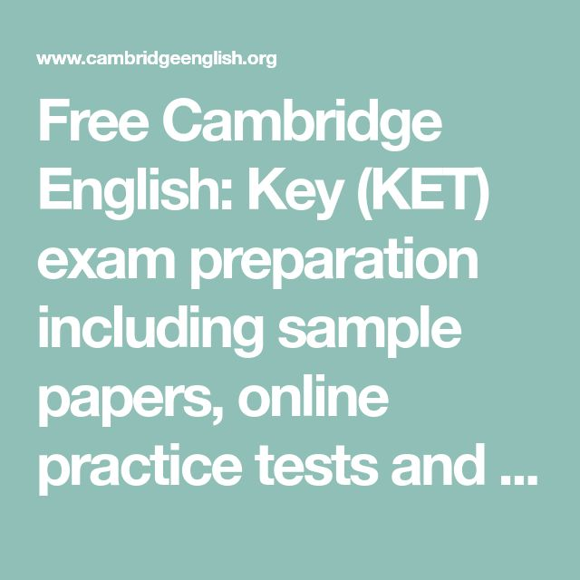 ket exam sample papers pdf