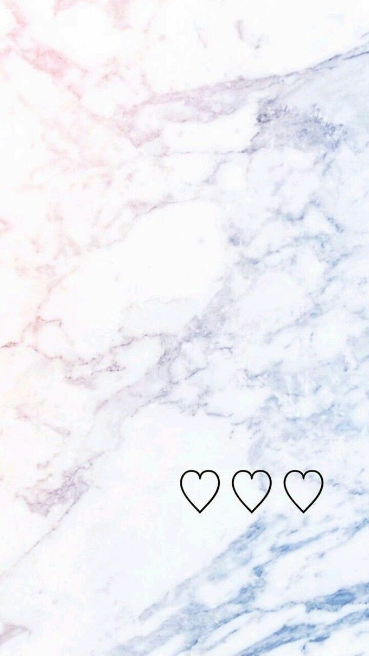 Pastel Color Marble With Cute Hearts Marble Wallpaper