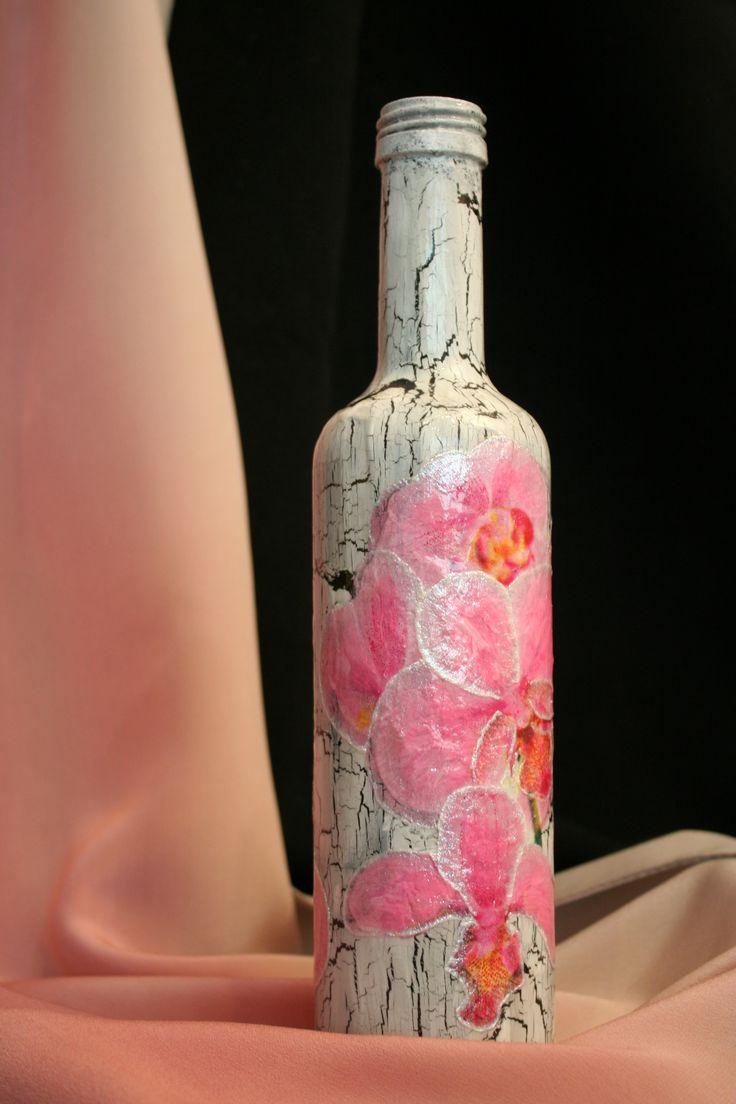 Butelka z orchideą