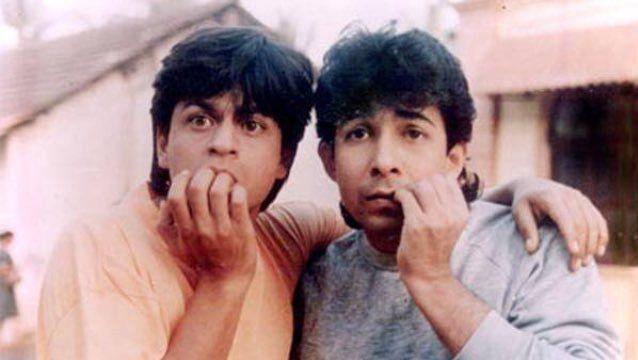 Shah Rukh Khan and Deepak Tijori