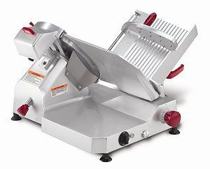 """Berkel 829E Slicer, Manual, Gravity Feed, 14 in dia, 1/2 HP, Each by Berkel. $1665.00. Berkel 829E Slicer, Manual, Gravity Feed, 14 in dia, 1/2 HP. Slicer, manual, 45 degree angled gravity feed, 14"""" diameter carbon steel knife, permanent knife guard, built-in sharpener, 1/2 HP."""