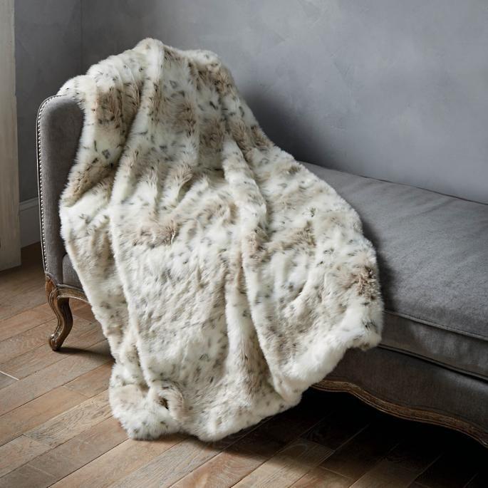 Luxury Faux Fur Throw In Lynx Faux Fur Throw Faux Fur Faux Fur