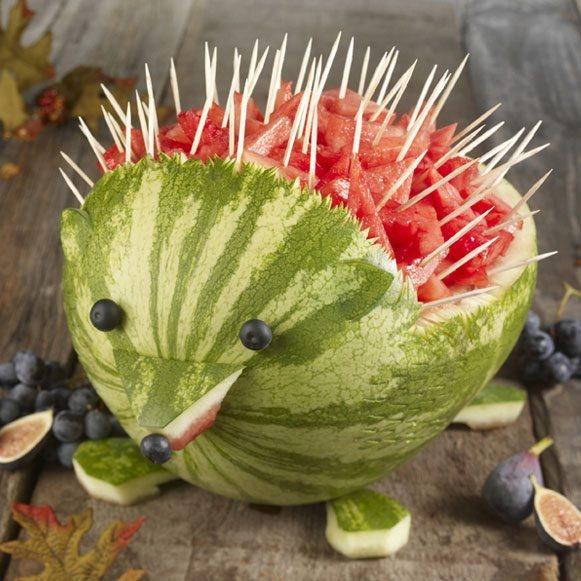Porco espinho de melancia