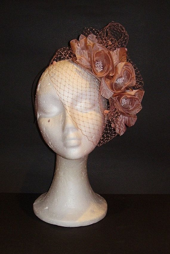 Pale pink fascinator / Dusty Pink headpiece / Blush by TocameMika, $130.00