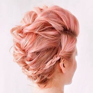 Our #trendingtuesday is braided, pink, lifted at the crown AND  #hairgoals for #turkeyday! Shop Living Proof Hair Lifting Spray at #wemakebeauty