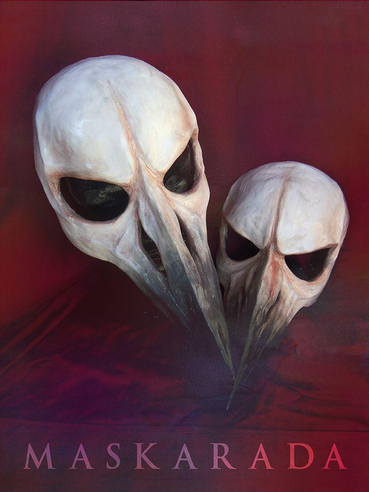 Bird skull masks by Maskarada Handmade and unique