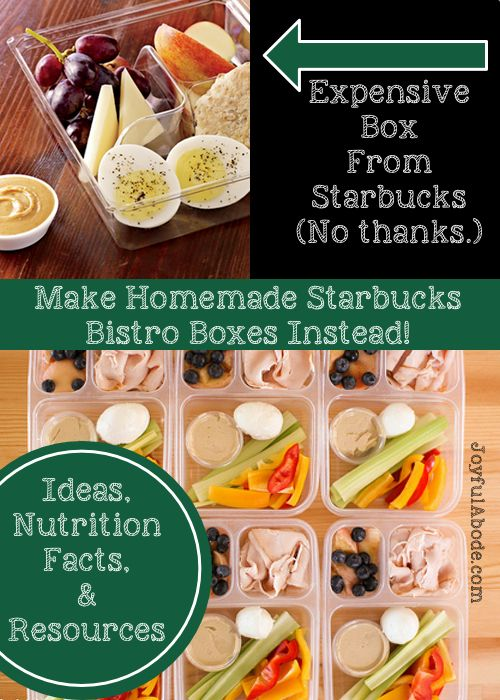 Love drive-through convenience, but not the prices or foods? Make Homemade Starbucks Bistro Boxes ahead of time. Examples, nutrition facts, and resources.