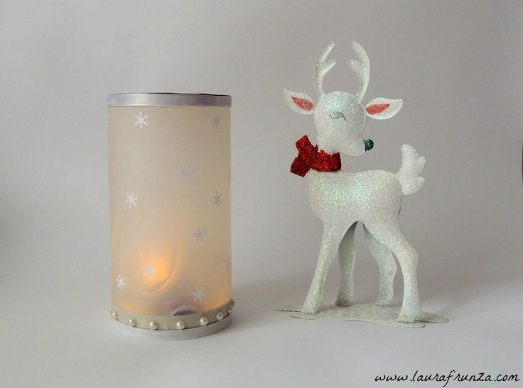 Christmas decoration - LED lights and tracing paper. See more in this blog post with visuals.