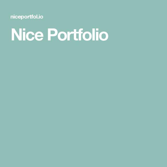 Nice Portfolio