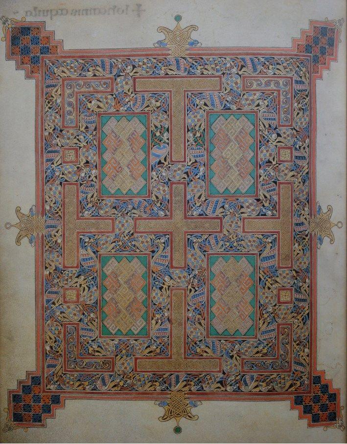 Илл. 4. «Линдисфарнское Евангелие». 697г. Лондон, Британская библиотека