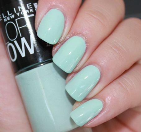 Maybelline Color Show Nail Polish MINT MIST Pastel Mint Green Creme