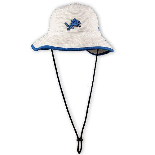 NFL Detroit Lions Training Camp Bucket Hat, White, One Size Fits All by New Era. Save 53 Off!. $12.79. polyester. 100% Polyester. New Era® Engineered Their Training Camp Collection For NFL Athletes And Coaches, With The Lightest Weight Performance Fabric Yet, They Provide Temperature Regulation, Moisture Wicking And Sun Protection.  The Bucket Has Your NFL Team Logo Embroidered On The Front Of The Cap, The NFL Shield On The Back, And New Era® Flag On The Left Side.